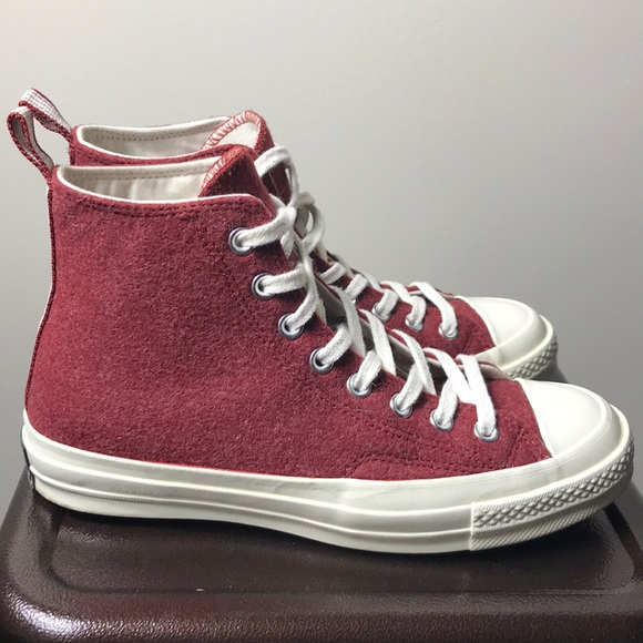 1e7bdb6f4aad Burgundy Wool Converse (urban outfitter exclusive